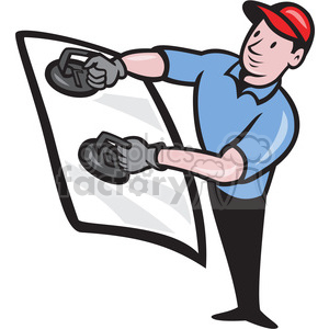 automotive glass installer standing clipart. Commercial use image # 390415