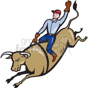 bull riding cowboy bucking clipart. Royalty-free image # 390425