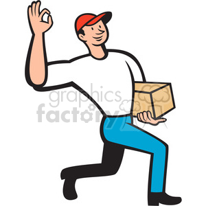 delivery man guy postal mail package box delivered express