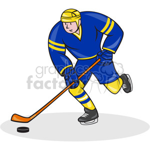 ice hockey player action strike clipart. Royalty-free image # 390469