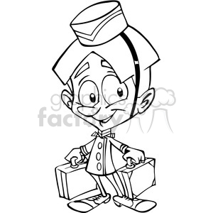 concierge outline clipart. Commercial use image # 390651