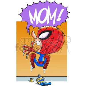 super hero stuck on a wall clipart. Commercial use image # 390747