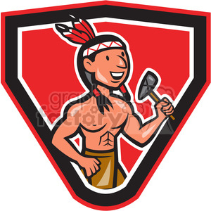 native american indian tomahawk mascot clipart. Commercial use image # 391421
