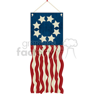 4th July Flag Streamer Craft clipart. Royalty-free image # 391560