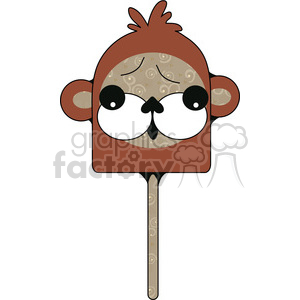 Flat Monkey clipart. Royalty-free image # 391597