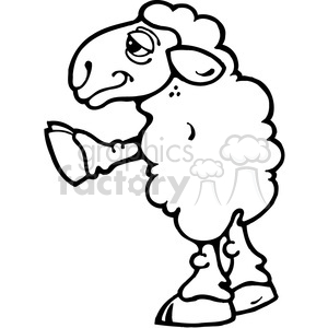 Lamb Sheep 01 clipart. Royalty-free image # 391604