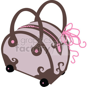 Womens Purse 04 clipart. Commercial use image # 391554