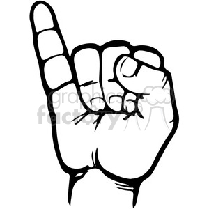 sign language letter I clipart. Royalty-free image # 167497