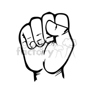 sign language letter S clipart. Royalty-free image # 167507