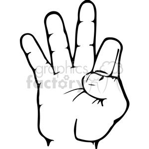ASL sign language 9 clipart illustration clipart. Royalty-free image # 391652