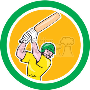 cricket player batting in circle shape clipart. Royalty-free image # 392329