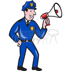 policeman megaphone side shape clipart. Commercial use image # 392389