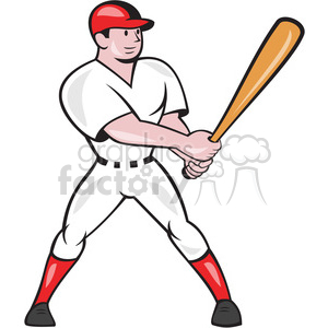 baseball batter side look OL shape clipart. Royalty-free image # 392419