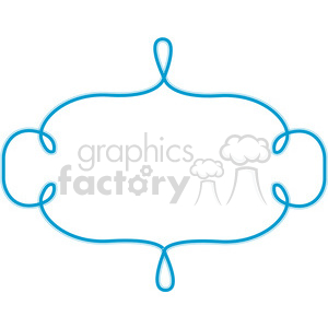 blue lines frame swirls boutique design border 1 clipart. Royalty-free image # 392460