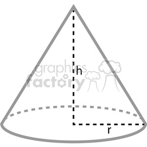 geometry cone school math worksheet clip art graphics images shades