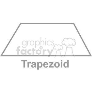 geometry trapezoid math clip art graphics images clipart. Royalty-free image # 392524