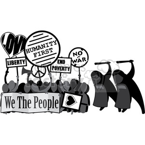 protesting in a police state illustration clipart. Royalty-free image # 392554