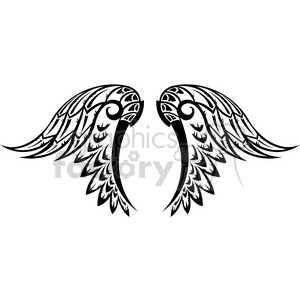 vinyl ready vector wing tattoo design 017 clipart. Commercial use icon # 392687