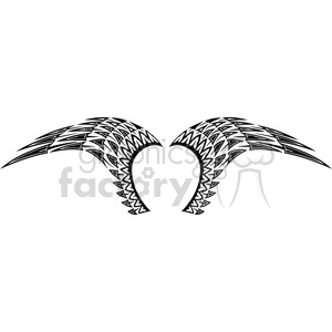 vinyl ready vector wing tattoo design 041 clipart. Royalty-free image # 392697