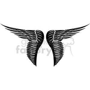 vinyl ready vector wing tattoo design 035 clipart. Royalty-free image # 392707
