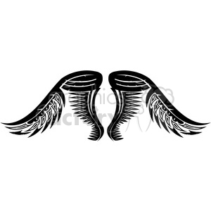 vinyl ready vector wing tattoo design 034 clipart. Royalty-free image # 392717