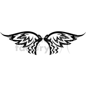 vinyl ready vector wing tattoo design 044 clipart. Royalty-free image # 392727