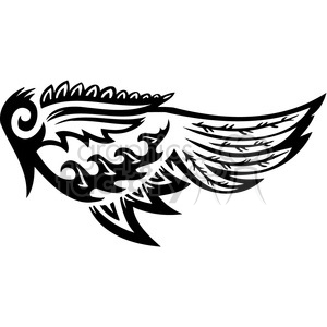 vinyl ready vector wing tattoo design 088 clipart. Commercial use image # 392747