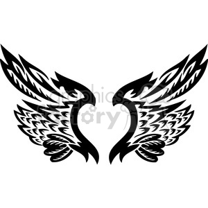 vinyl ready vector wing tattoo design 097 clipart. Commercial use image # 392757