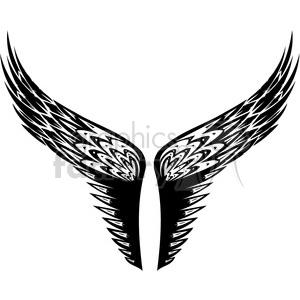 vinyl ready vector wing tattoo design 026