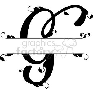 split regal g monogram vector design clipart. Royalty-free image # 392833
