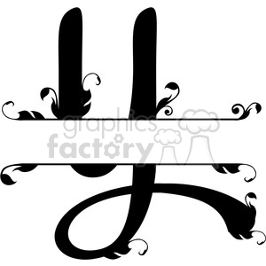 split regal y monogram vector design clipart. Royalty-free image # 392843