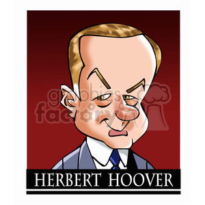 herbert hoover color clipart. Royalty-free image # 392907