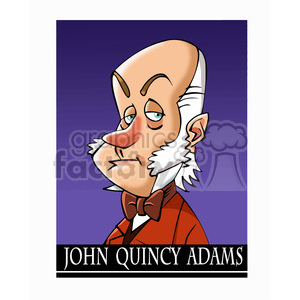 celebrity famous cartoon editorial-only people funny caricature john+quincy+adams president 10th 6th