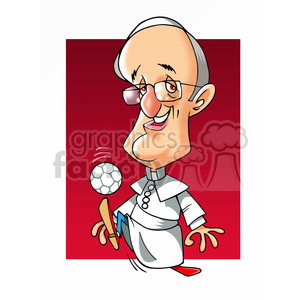 papa francisco color clipart. Royalty-free image # 393005