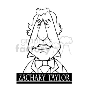 zachary taylor black white clipart. Royalty-free image # 393055