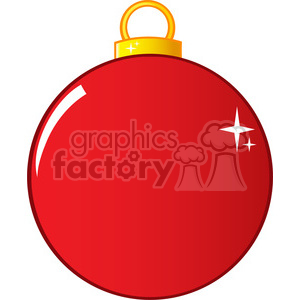 Royalty Free RF Clipart Illustration Red Christmas Ball clipart. Royalty-free image # 393162