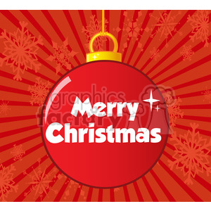 7003 Royalty Free RF Clipart Illustration Red Christmas Ball With Text clipart. Royalty-free image # 393172