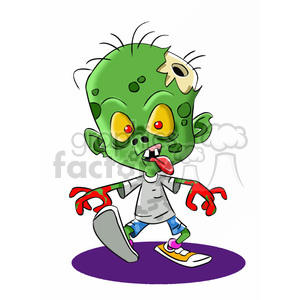 zombie child cartoon clipart. Royalty-free image # 393274