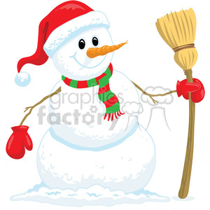 cartoon snowman clipart. Royalty-free image # 393410