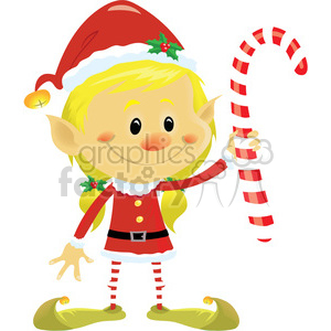 christmas cartoon characters holidays elf helper employee job candycane candy+cane candy