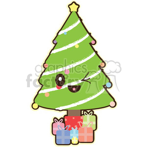 cartoon cute character funny christmas christmas+tree tree