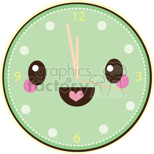 Clock cartoon character clipart. Royalty-free image # 393538