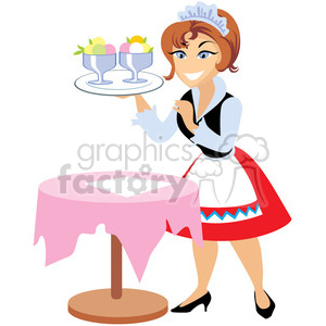 cartoon waitress clipart. Royalty-free image # 393615