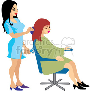 beautician clipart. Commercial use image # 393629