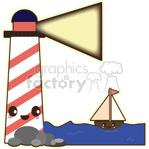 cartoon character characters funny cute lighthouse ocean light boat coast coastal