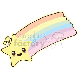 cartoon character characters funny cute rainbow star shooting+star shooting sky space planets