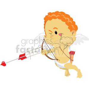 cupid with red hair shooting love arrows clipart. Royalty-free image # 393823