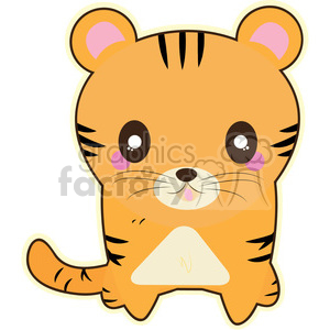 cartoon funny character cute tiger cat
