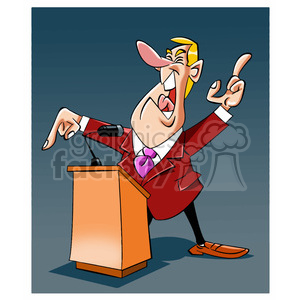 political guy speaking at the podium clipart. Commercial use image # 393989