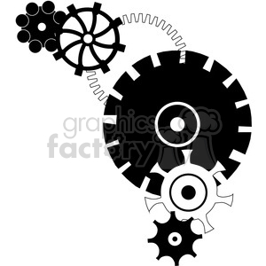 Gear 20 Grouping clipart. Royalty-free image # 394109